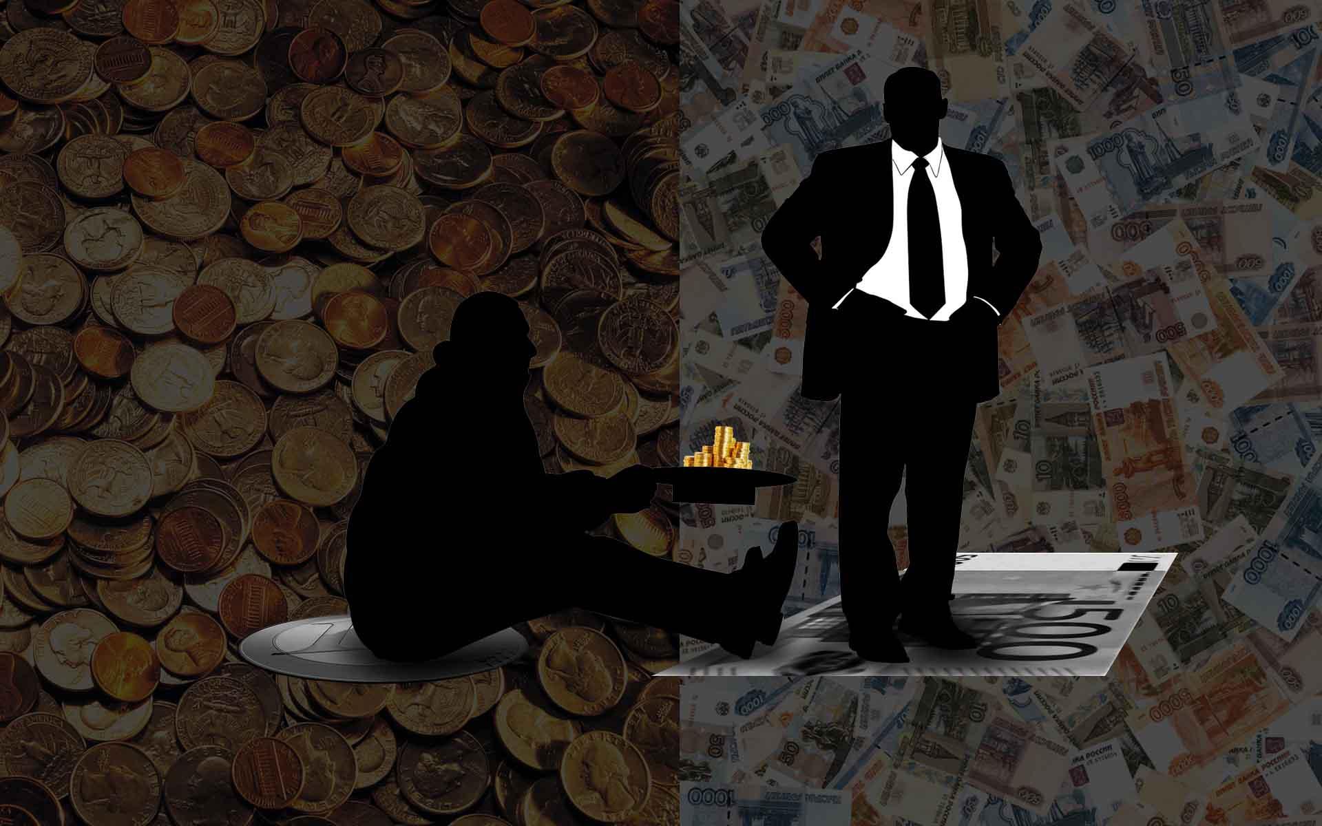 Богатый и нищий картинки