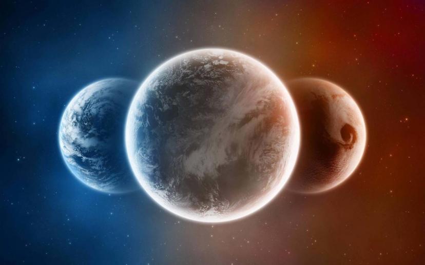 Три мира: явный, непроявленный, воображаемый